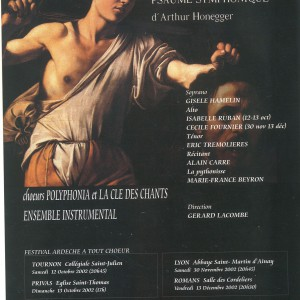 Le Roi David d'Arthur Honegger