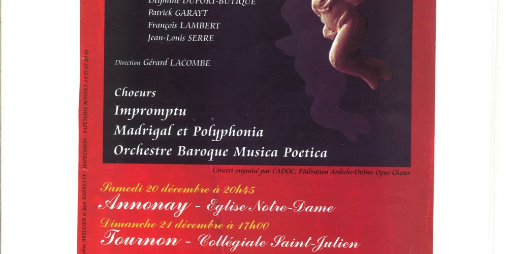 Concert donné en  par le Choeur Polyphonia