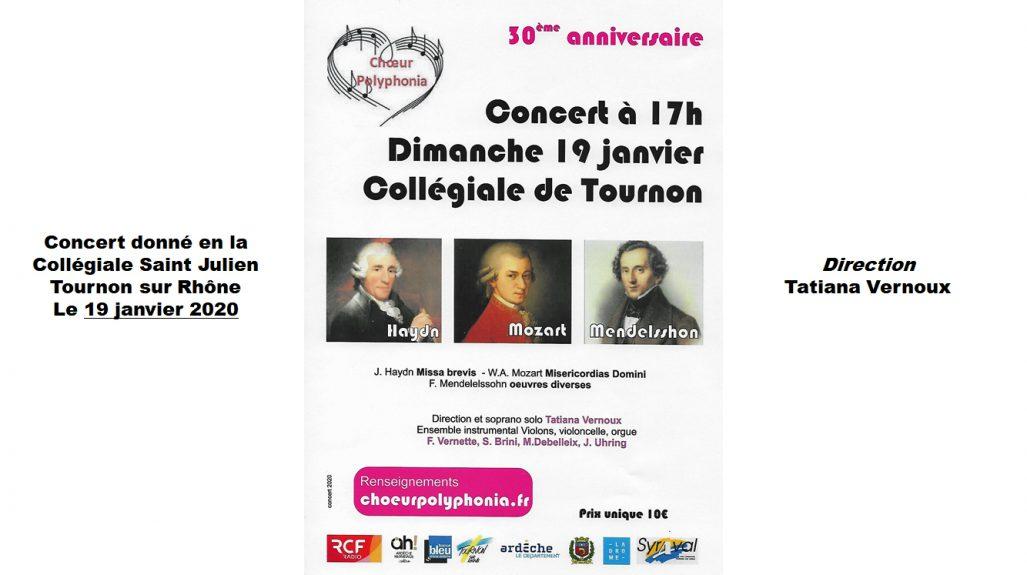 Concert du 30° anniversaire